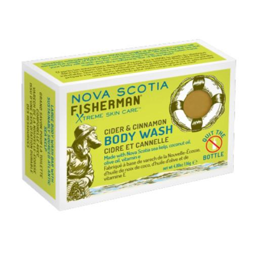 Nova Scotia Fisherman Cider & Cinnamon Body Wash Bar with Powerful Sea Kelp. 236 grams.