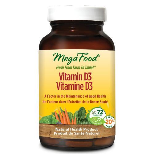 MegaFood Vitamin D3 72 tabs
