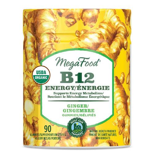 MegaFood B12 Energy Ginger Gummies Canada
