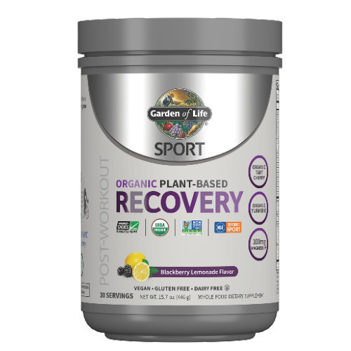 Garden of Life Post-Workout Recovery  Powder Blackberry Lemonade 446 grams
