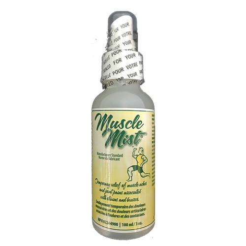 Muscle Mist is a herbal spray the provides temporary relief of muscle and joint pains.