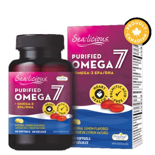 Sea-licious Purified Omega 7  Lemon Flavour 60 softgels