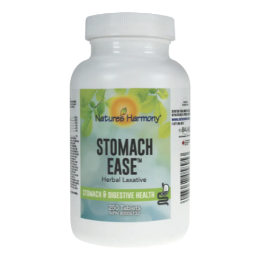 Natures Harmony Stomach Ease 250tablets natural laxative - new label