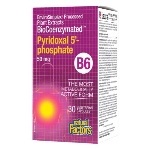 Natural Factors BioCoenzymated Pyridoxal 5'-Phosphate B6 30 caps