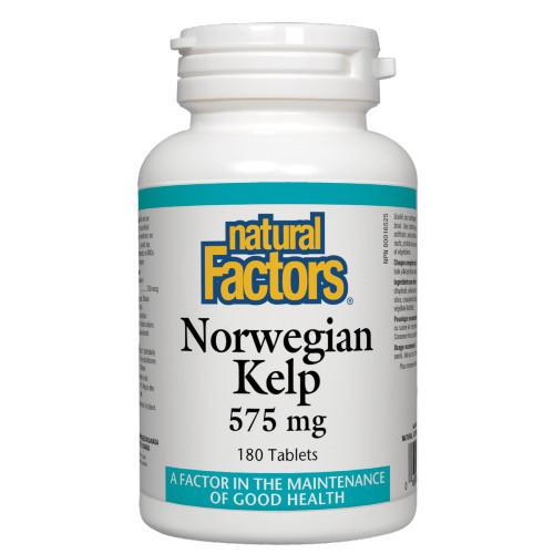 Natural Factors Morwegian Kelp 180 tabs Canada