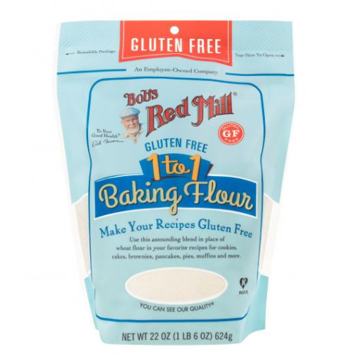 Bob's Red Mill Gluten Free 1-to-1 Baking Flour, with Xanthan gum already mixed in!