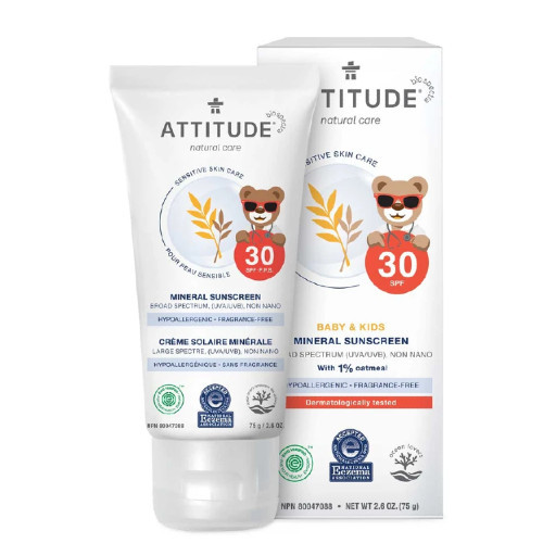 Attitude Natural Care Baby & Kids 30 SPF Mineral for Sensitive Skin.
