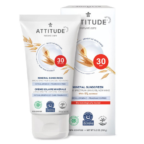 Attitude Natural Care 30 SPF Mineral for Sensitive Skin.