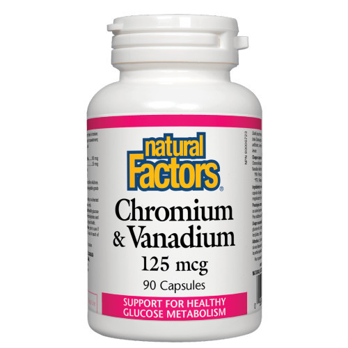 Natural Factors Chromium & Vanadium 125 mcg 90 caps Canada