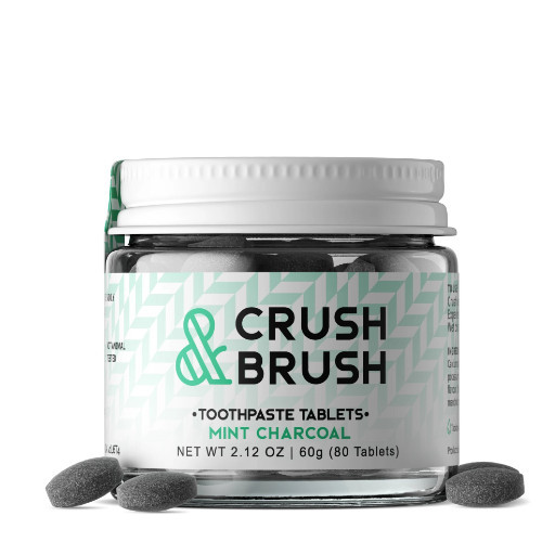 Nelson Naturals Crush & Brush Mint Charcoal Tablets