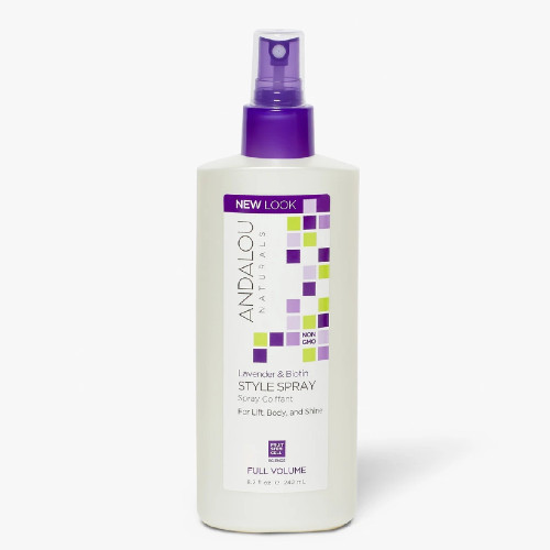 Andalou Naturals Lavendar & Biotin Hair Style Spray helps to boost flat and fine hair to create a fuller and thicker look, while styling your hair with a finished and shiny look.