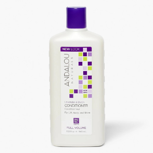 Andalou Naturals Lavendar & Biotin Full Volume Hair Conditioner encourages follicle repair and replenishes the hair while leaving your hair with a silky shine.