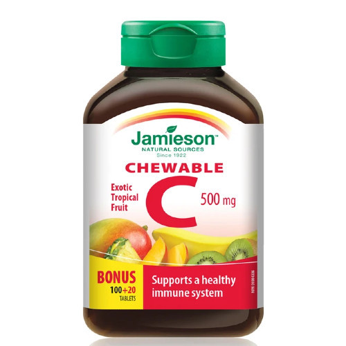 Jamieson Chewable Vitamin C 500 mg  120 tablets Canada