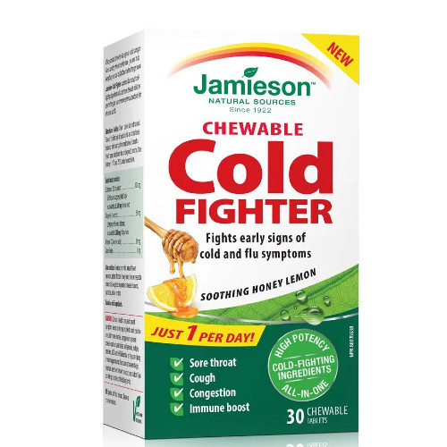 Jamieson Cold Fighter helps fight early signs of cold and flu symptoms to prevent them from getting worse.