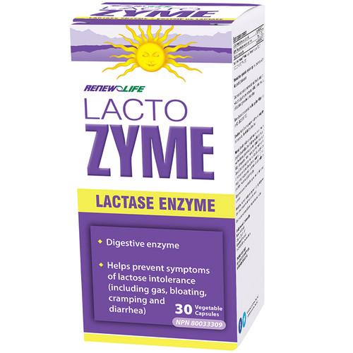 Renew Life LactoZYME Lactase Enzyme Digestion 30 vegetable capsules