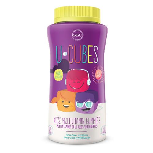 SISU U-Cubes Kids' Multivitamin Gummies 120 gummies