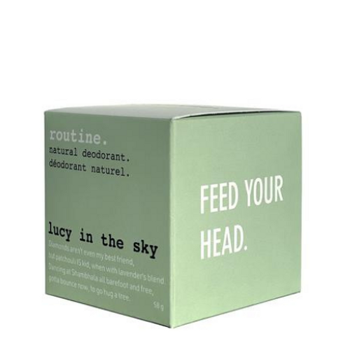 Routine. - Lucy In The Sky Natural Deodorant Box