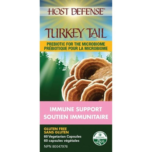 Host Defense Turkey Tail Immune Support 60 vegetarian capsules Canada