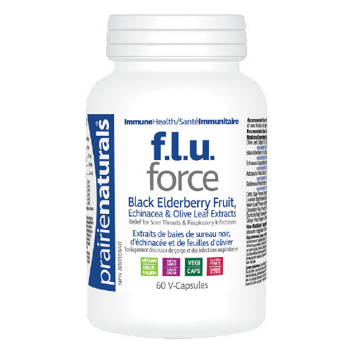 Prairie Naturals F.l.u. Force is an anti-viral immune supporting supplement