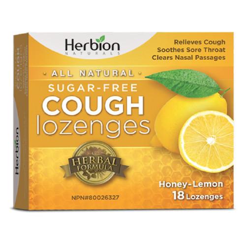 Herbion Naturals Sugar Free Cough Lozenges. Honey-Lemon Flavoured