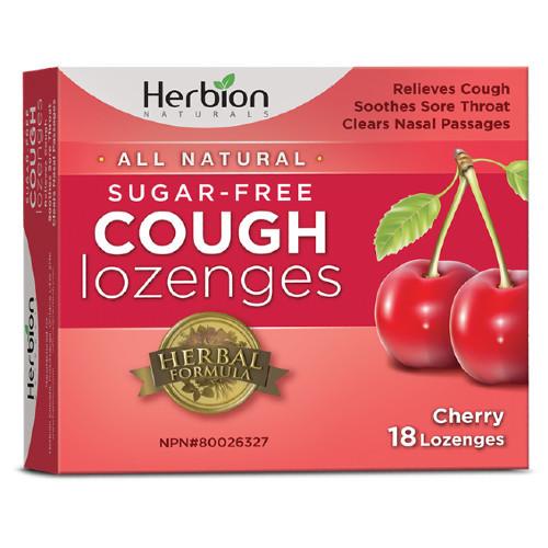 Herbion Naturals Sugar Free Cough Lozenges. Cherry Flavoured