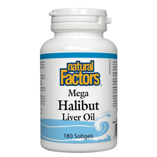 Natural Factors Mega Halibut Liver Oil 180 caps