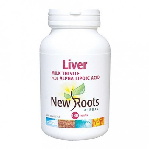 New Roots Liver Milk Thistle Plus Alpha-Lipoic Acid 180 caps