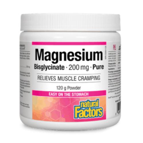 Natural Factors Magnesium Bisglycinate 200 mg 120 grams Powder Canada