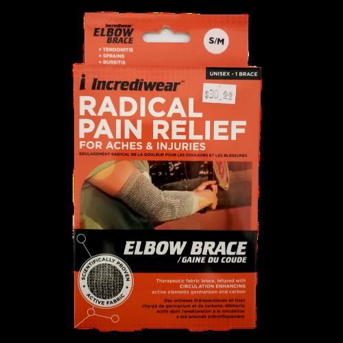 Incrediwear Elbow Brace Grey Small/Medium