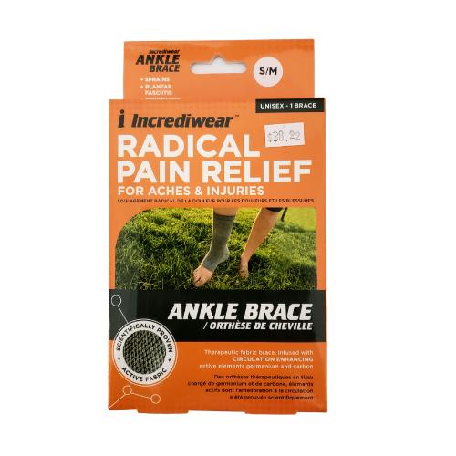 Incrediwear Ankle Brace Grey Small Medium