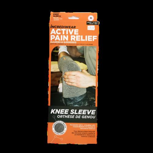 Incrediwear Active Pain Relief Knee Sleeve Size Medium Grey