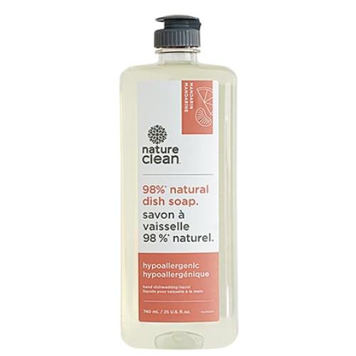 Nature Clean Liquid Dish Soap is a 98% natural dish soap, Mandarin