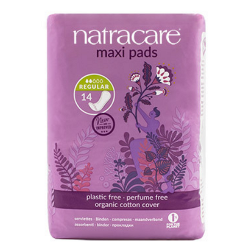 Natracare - Regular Absorbency Organic Cotton Cover Maxi Pads New Look