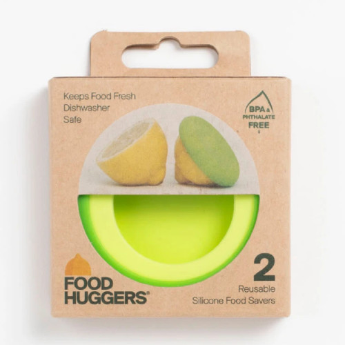 Food Huggers allow your fruits to last longer without the use of plastic wrap.