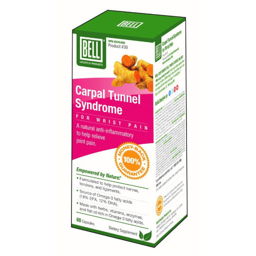 Bell Carpal Tunnel Syndrome Wrist Pain 60 capsules Canada