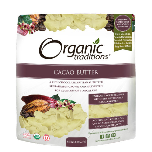 Organic Traditions Cacao Butter 454 grams Canada