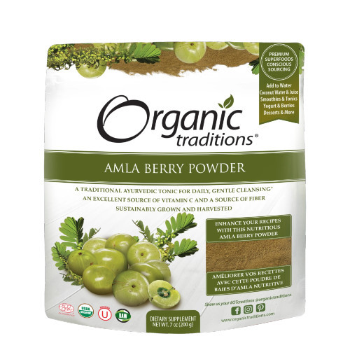 Organic Traditions Amla Berry Powder  200 grams Canada