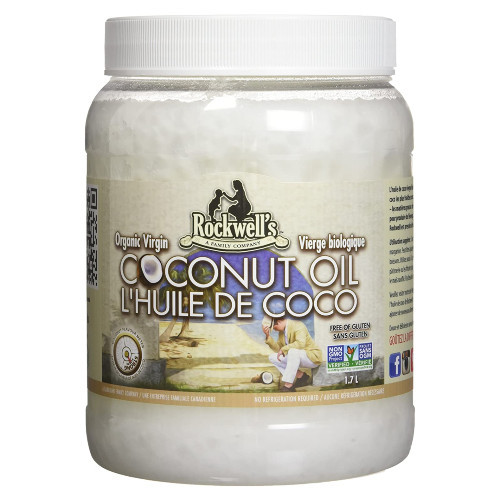 Rockwell's Organic Virgin Coconut Oil is cold-pressed and made from the freshest coconuts. 1.7 L