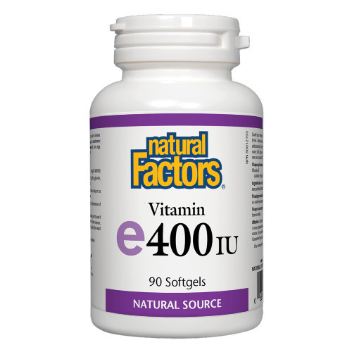 Natural Factors Vitamin E 400 IU 90 Softgels