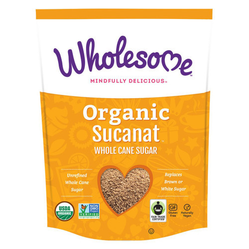Wholesome Whole Cane Sugar Organic Sucanat is unrefined whole cane sugar that replaces brown or white sugars.