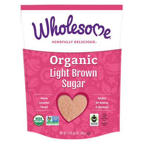 Wholesome Organic Light Brown sugar is an unrefined sugar.