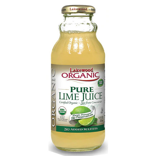 Lakewood Organic Pure Lime Juice is not from concentrate and is made from the juice of pasteurized pressed fresh limes.