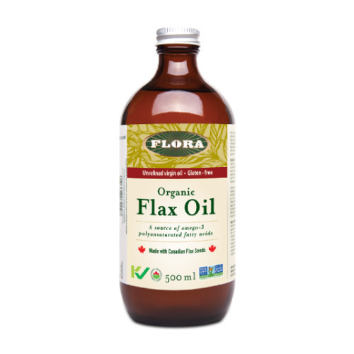 Flora Organic Flax Oil is a great source of omega-3 fatty acids