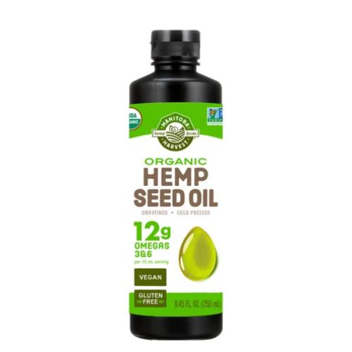 Manitoba Harvest Organic Hemp Oil 250ml. NEW LOOK