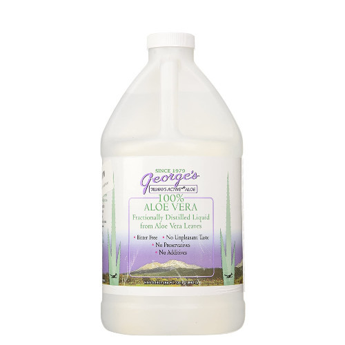 George's Always Active 100% Aloe Vera is a fractionally distilled liquid from aloe vera leaves.