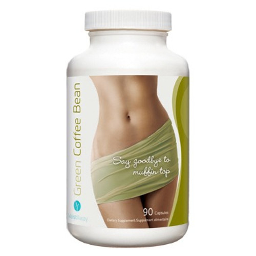 WaistAway Green Coffee Bean helps to get rid of that muffin top!  90 capsules per bottle.