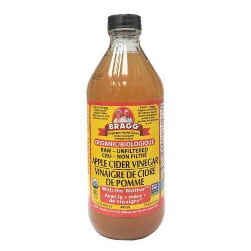 Bragg Organic Apple Cider Vinegar With the Mother Glass bottle 473 ml