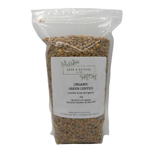 Good n Natural Health Food Store Organic Green Lentils.