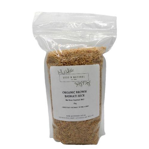 Good n Natural Health Food Store Organic Brown Basmati Rice.