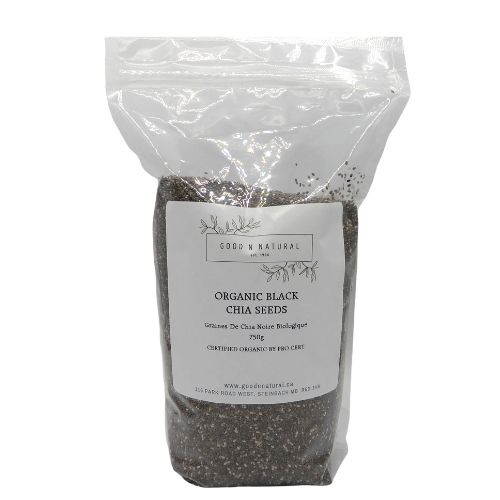 Good n Natural Health Food Store Organic Black Chia Seeds.